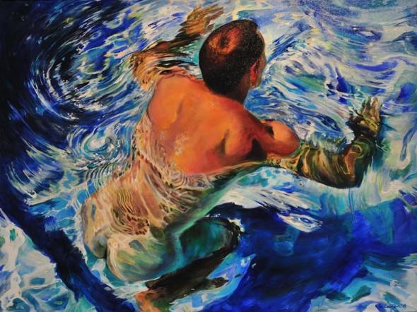 Taking Off by Ken Landon Buck     Taking Off by Ken Landon Buck, acrylic 32x42